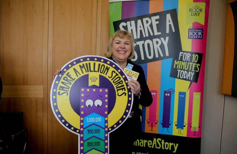 Jane Hunt MP World Book Day